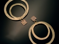 bronze-double-hoop-earrings